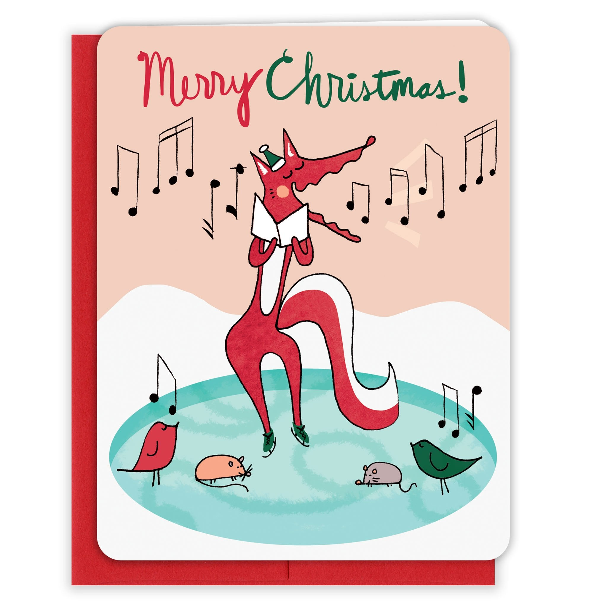 Singing-Christmas-Fox-Christmas-Card