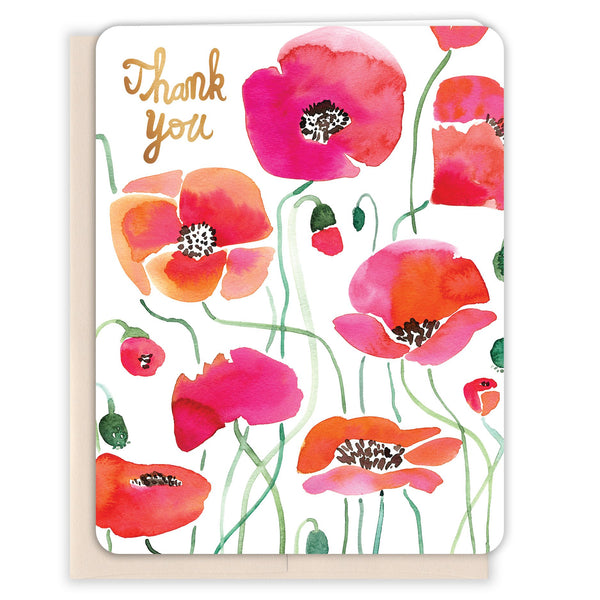 Watercolor-Poppies-Thanks-Thank-You-Card