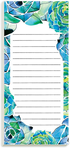 Succulents Magnetic List Pad