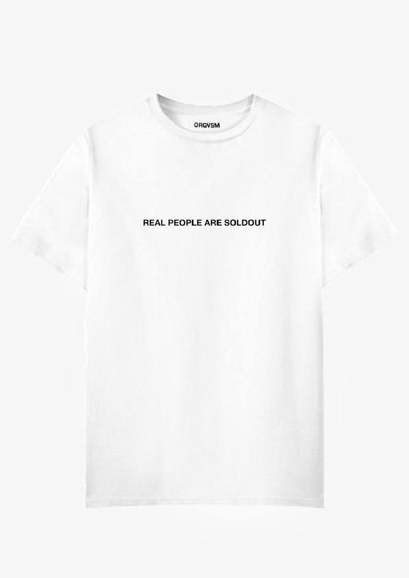 Real People Are Soldout Tee White Version