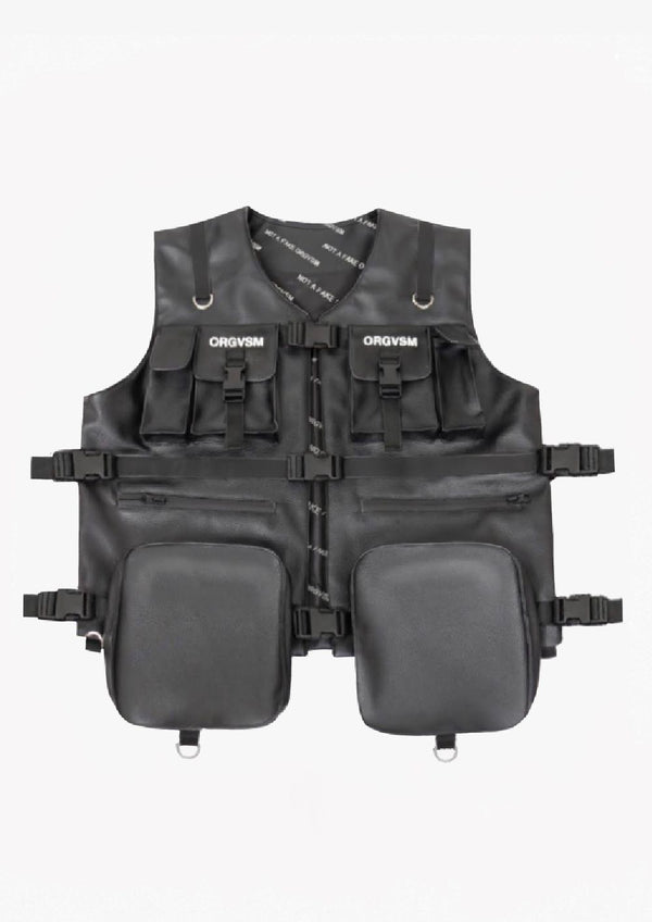 LEATHER VEST Black Version