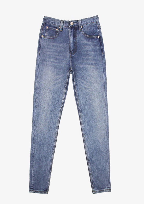 Retro Zip Jeans Skinny Version