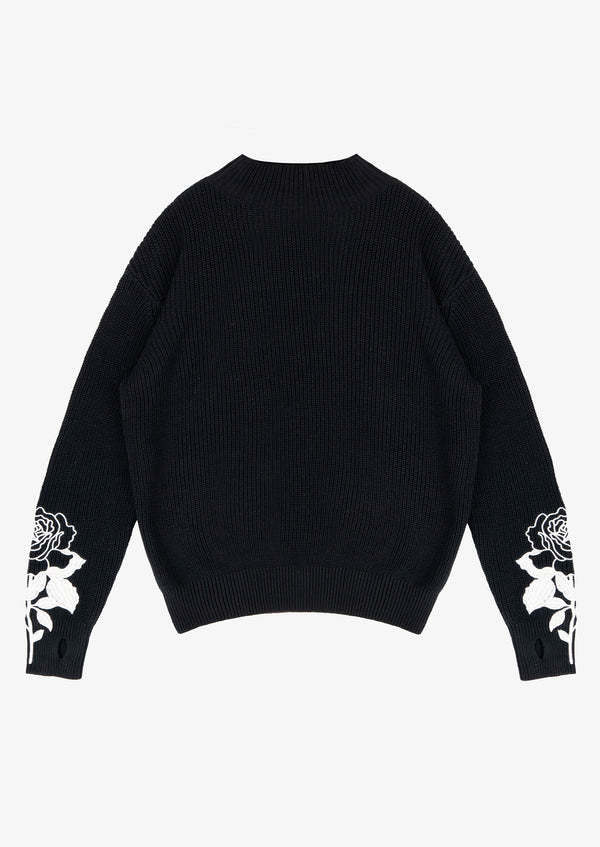 LONG SLEEVE SWEATER Black Version