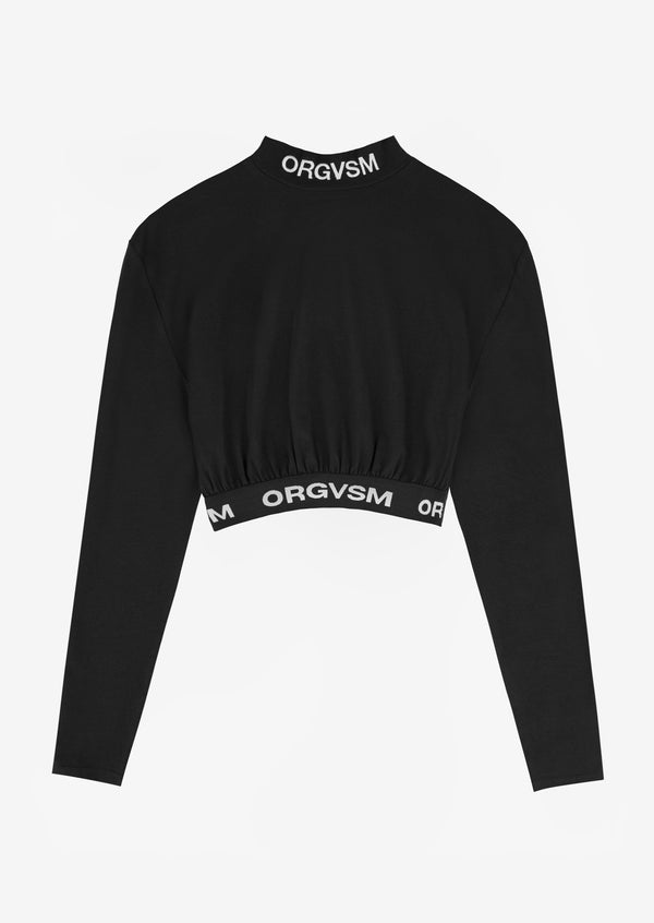 CROP TEE LONG SLEEVE Black Version