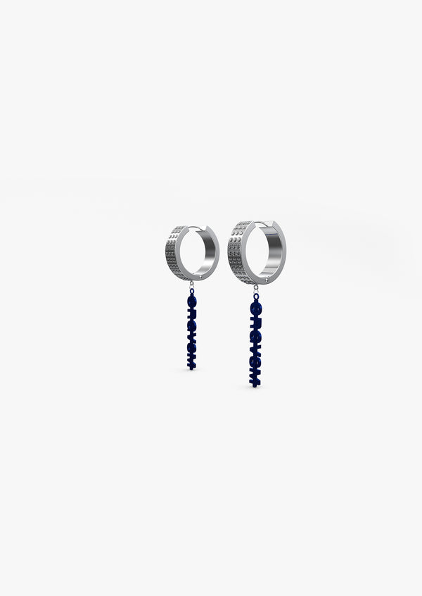 Hoop Earrings Blue
