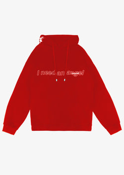 I NEED AN ANGEL Hoodie Red Version