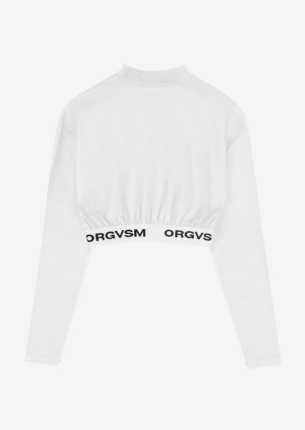 CROP TEE LONG SLEEVE White Version