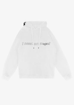 I NEED AN ANGEL Hoodie White Version