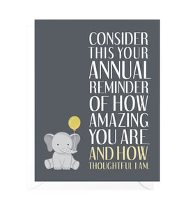 Annual Reminder Funny Birthday Card