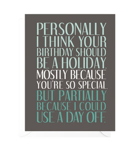 You're So Special Funny Birthday Card