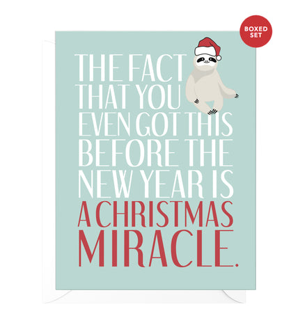 Christmas Miracle Funny Boxed Christmas Cards