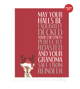 Holiday Wishes Funny Boxed Christmas Cards