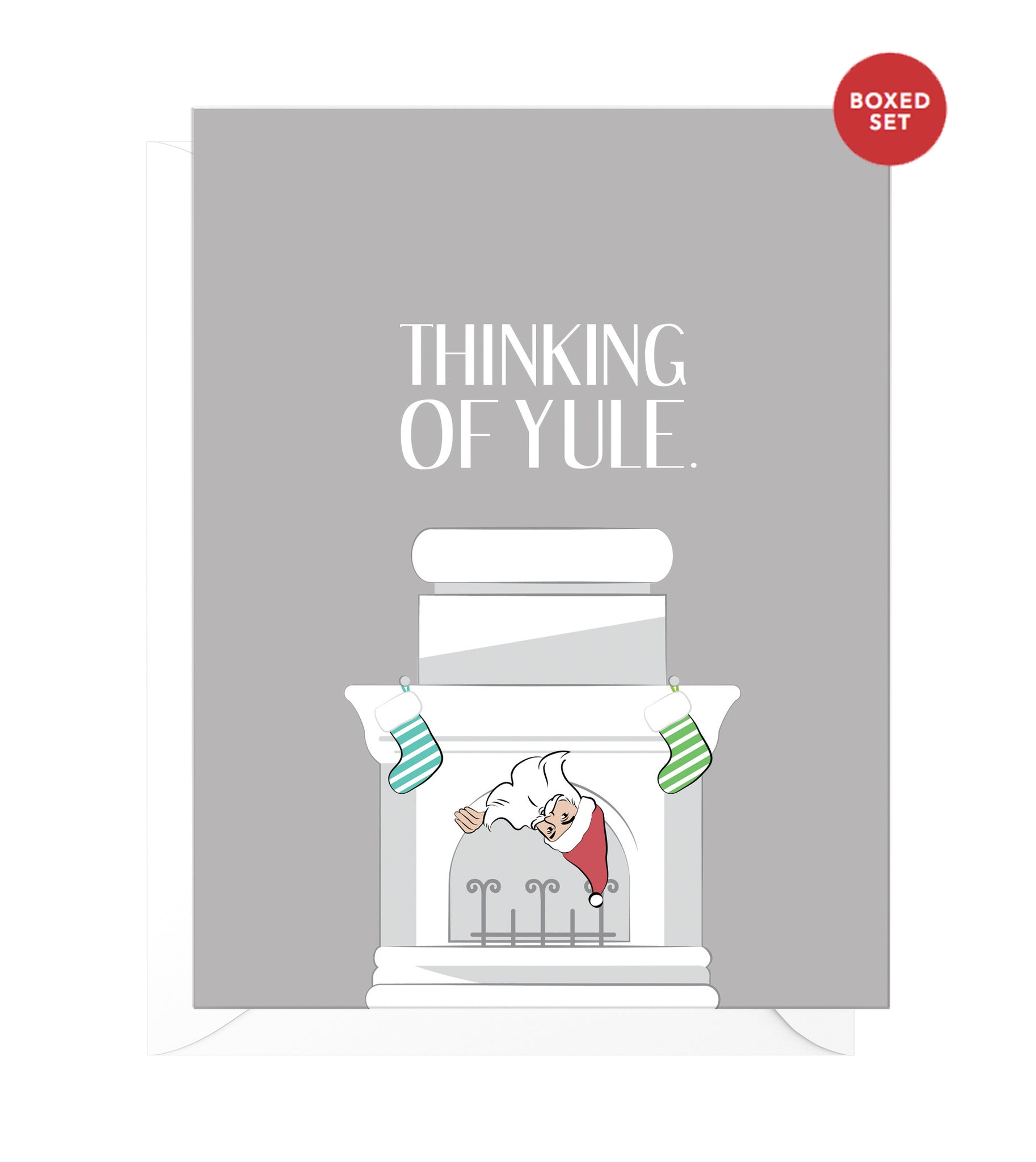 Thinking of Yule Funny Boxed Christmas Cards