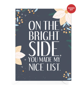 Nice List Funny Boxed Christmas Cards