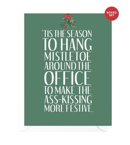 Mistletoe Funny Boxed Christmas Cards