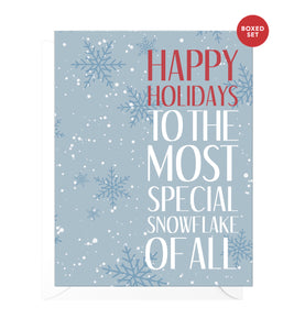 Special Snowflake Funny Boxed Christmas Cards
