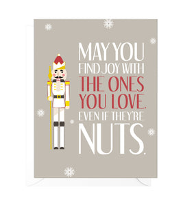 A Little Nuts Funny Christmas Card