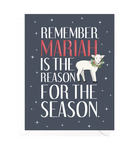 Mariah Funny Christmas Card