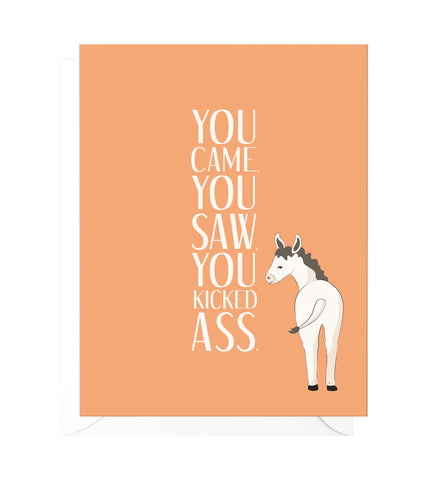 You Came You Saw Funny Congratulations Card
