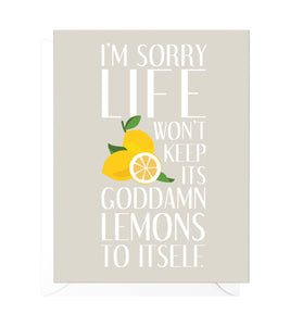 Lemons Funny Encouragement Card