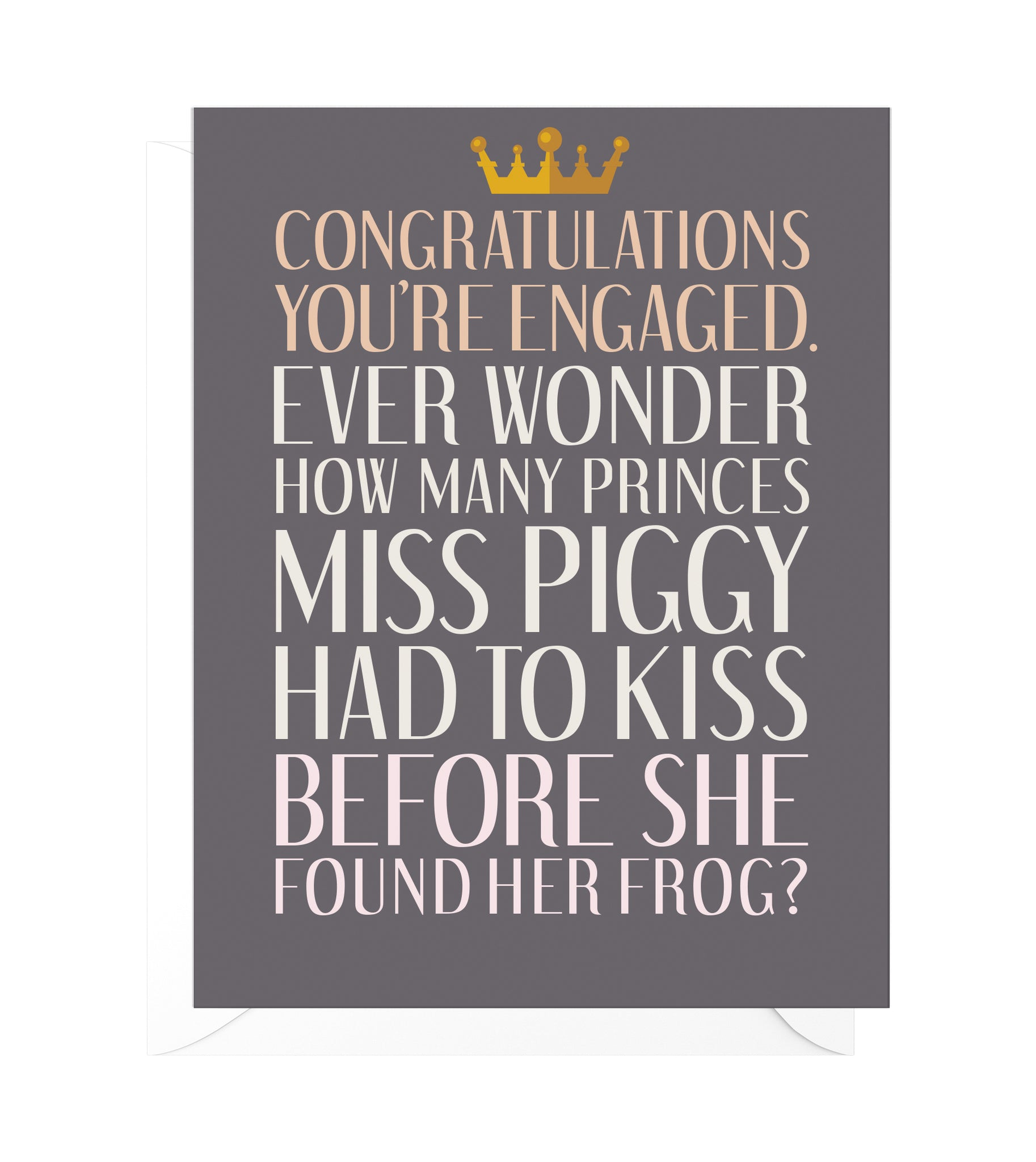 Frog Prince Funny Engagement Card