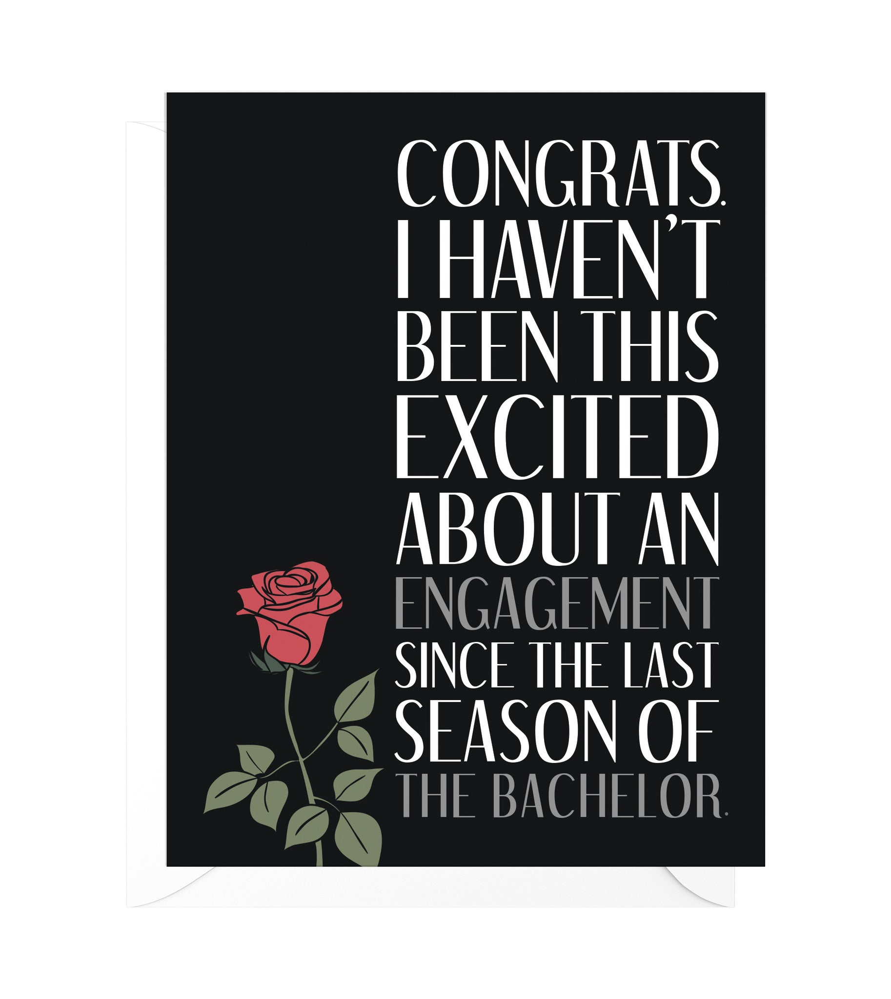 The Bachelor Funny Engagement Card