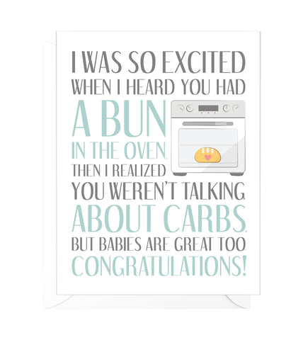 Bun in the Oven Funny Pregnancy Card
