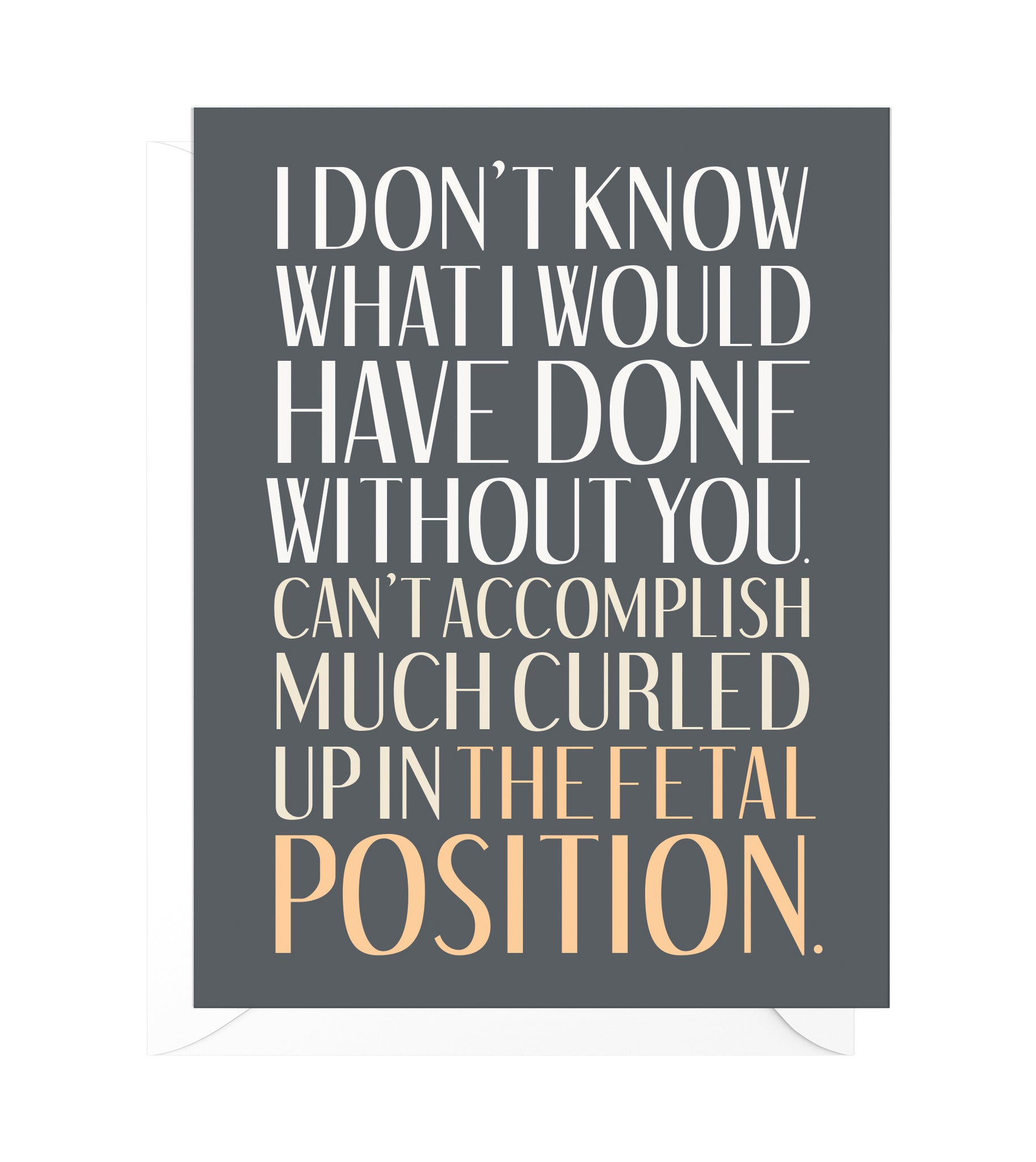 Fetal Position Funny Thank You Card
