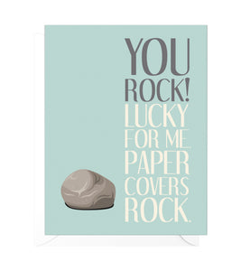 You Rock Funny Thank You Card
