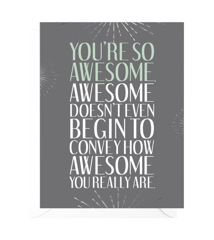 You're So Awesome Funny Thank You Card
