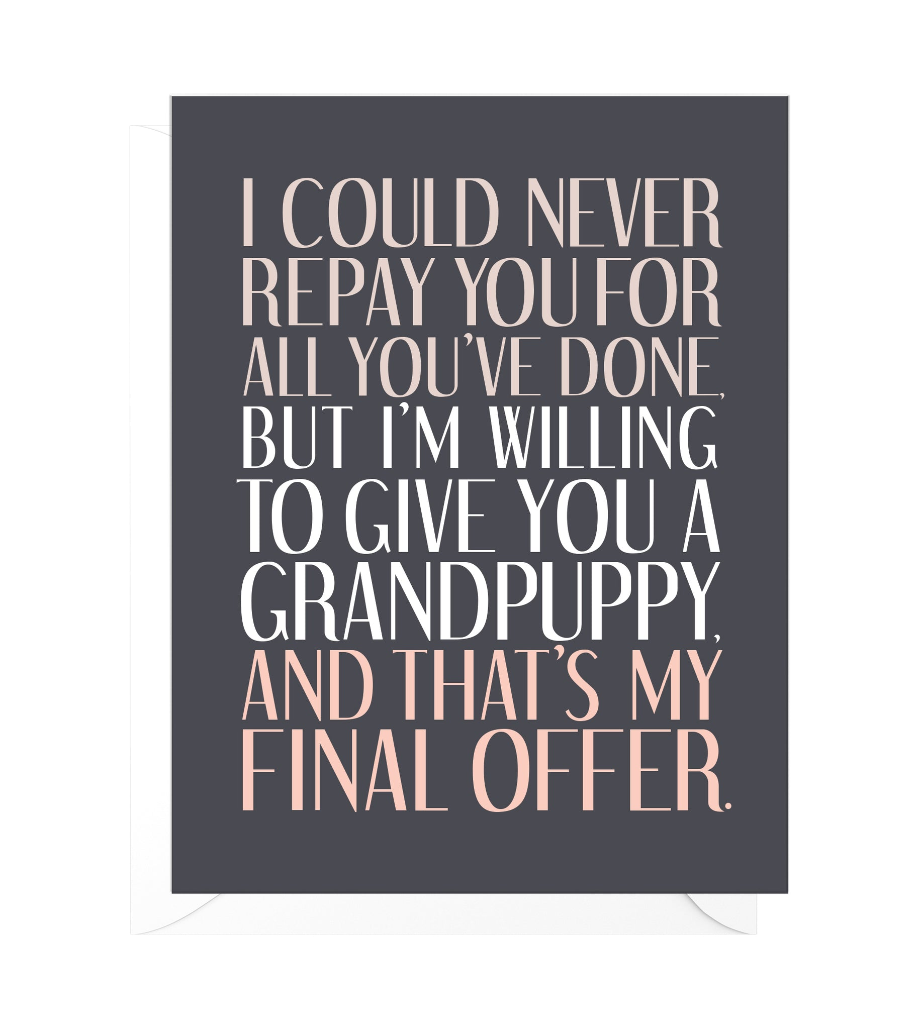 Grandpuppy Funny Mother's Day Card