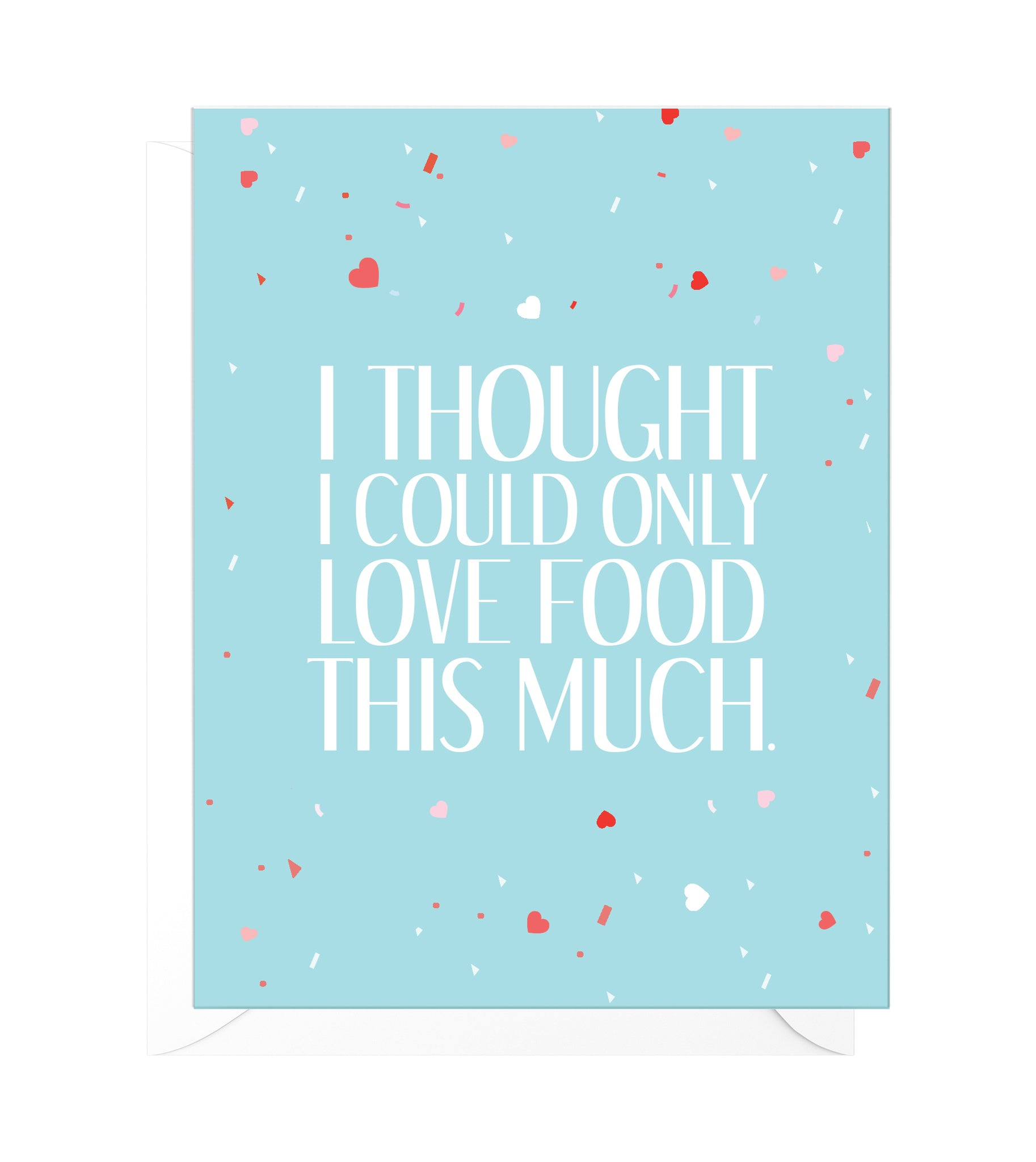 Love Food Funny Relationship Card
