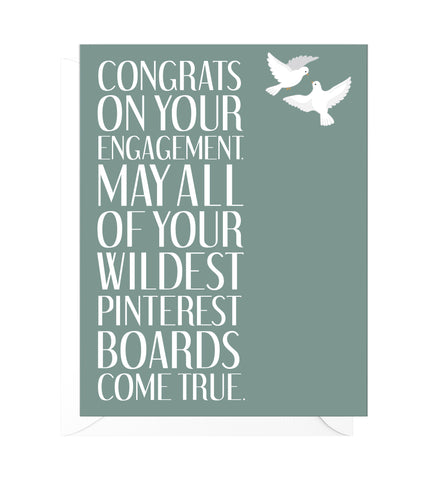 Wildest Pinterest Boards Funny Engagement Card