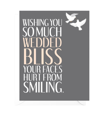 Wedded Bliss Funny Wedding Card