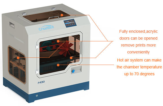 CreatBot PEEK F430 Desktop 3D Printer