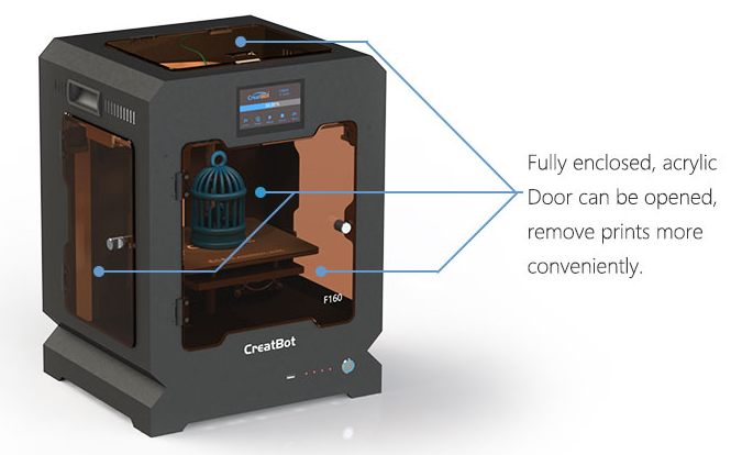 CreatBot F160 High Precision/Speed Desktop 3D Printer