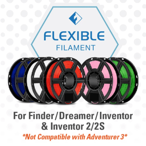 Image of FlashForge FlashForge D-Series Flexible Filament (TPU) 1.75 MM (Dreamer, Inventor Series, and Finder)