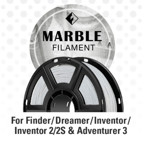 Image of FlashForge FlashForge D-Series Marble Color Filament 1.75 MM (Inventor Series, Adventurer 3 Series, and Dreamer) 3D-FFG-DMARBLE