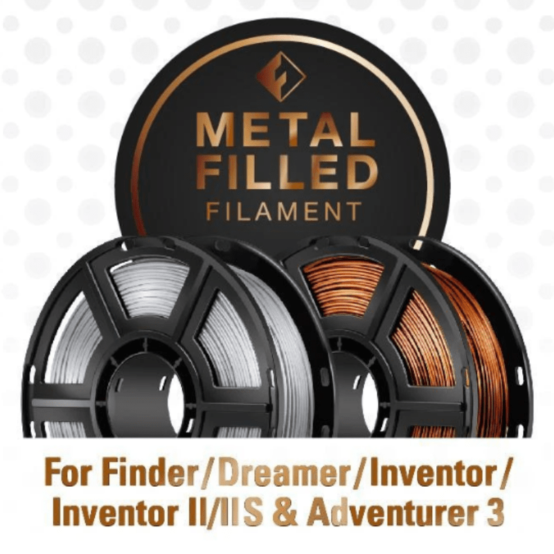 FlashForge FlashForge D-Series Metal Filled Filament 1.75 MM (Dreamer, Inventor Series, and Adventurer 3)