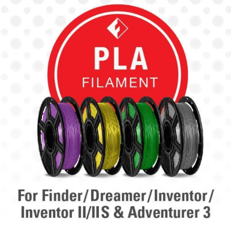 FlashForge D-Series PLA Filament 1.75 MM (Finder, Dreamer, Inventor Series, and Adventurer 3)