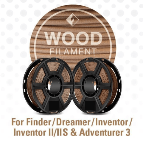 Image of FlashForge FlashForge D-Series Wood Filament 1.75 MM (Dreamer, Inventor Series, and Adventurer 3)