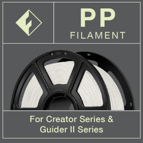 FlashForge FlashForge Polypropylene (PP) Filament 1.75 MM (Creator and Guider 2 Series) 3D-FFG-PPNA