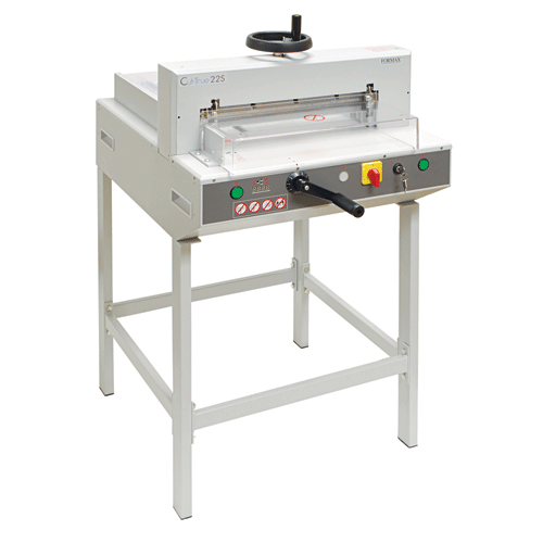 Formax No Add-on Formax Cut-True 22S Semi-Automatic Guillotine  Electric  Cutter with Laser Line & Metal Stand Cut-True 22S