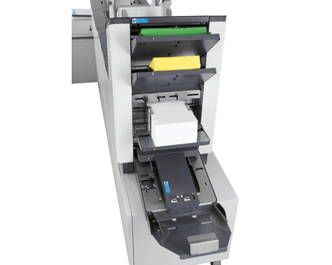 Image of Formax Inserter w/Tower Feeder - Includes two 1000-sheet Flex-Feeders Color Touchscreen Accum/Divert/Scanner/Cabinets/Conveyor / Reading Face Up from Top scanner and Face Down from Bottom scanner) Formax FD 7500 Series Inserter w/Tower Feeder - Includes two 1,000-sheet Flex-Feeders, Color Touchscreen, Accum/Divert, Scanner, Cabinets, Conveyor FD 7500-Special2FA