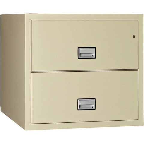 Phoenix Safe International Putty Phoenix LAT2W31 Lateral 31 inch 2-Drawer Fireproof File Cabinet LAT2W31P