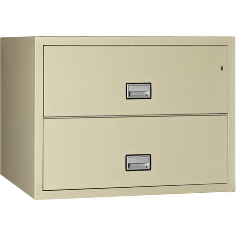 Phoenix Safe International Putty Phoenix LAT2W38 Lateral 38 inch 2-Drawer Fireproof File Cabinet LAT2W38P
