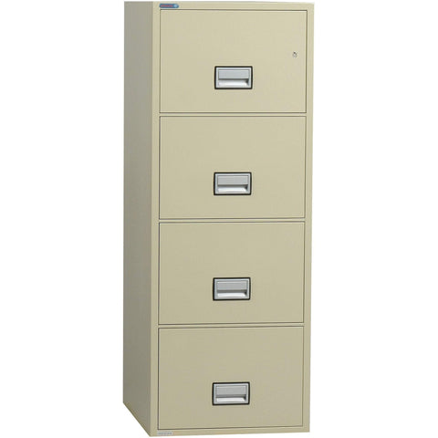 Phoenix Safe International Putty Phoenix LGL4W25 Vertical 25 inch 4-Drawer Legal Fireproof File Cabinet LGL4W25P