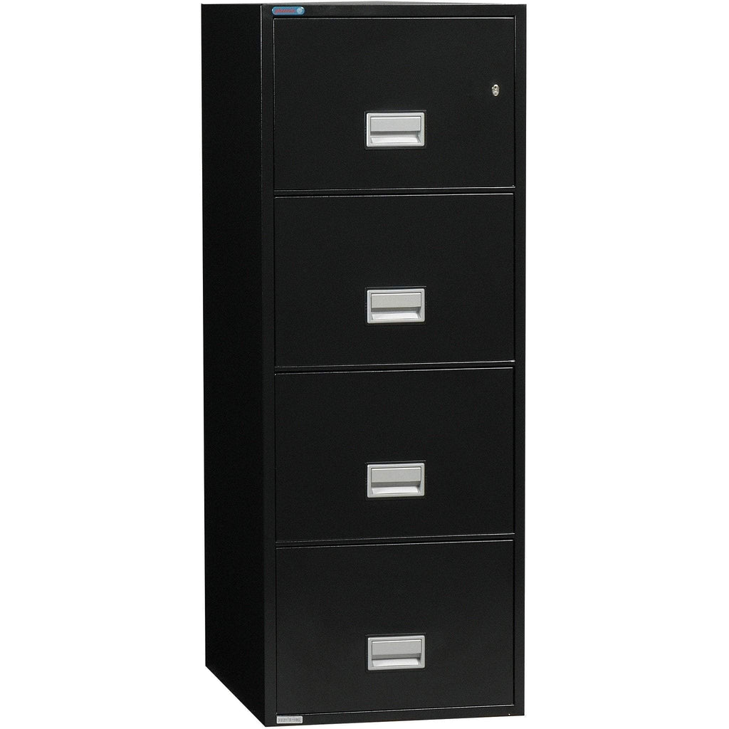 Phoenix Safe International Back Phoenix LGL4W31 Vertical 31 inch 4-Drawer Legal Fireproof File Cabinet LGL4W31B