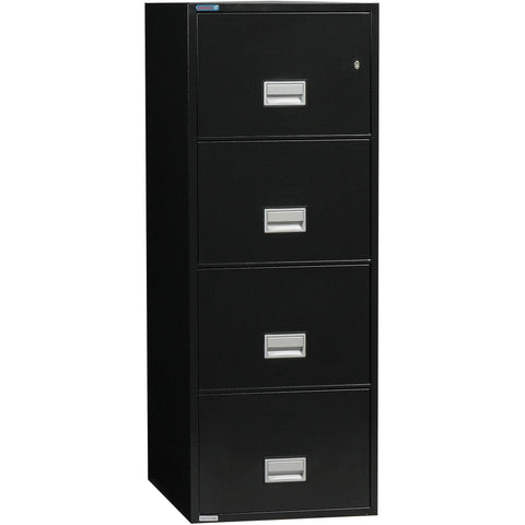 Image of Phoenix Safe International Back Phoenix LGL4W31 Vertical 31 inch 4-Drawer Legal Fireproof File Cabinet LGL4W31B