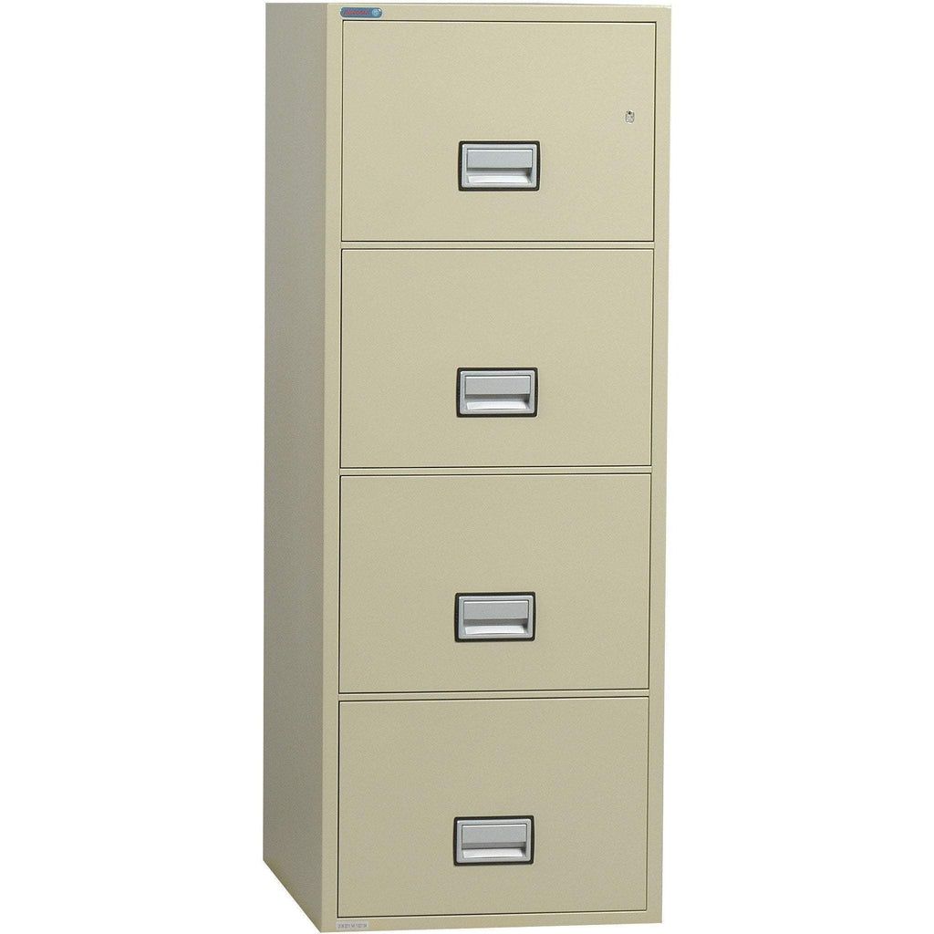 Phoenix Safe International Putty Phoenix LGL4W31 Vertical 31 inch 4-Drawer Legal Fireproof File Cabinet LGL4W31P